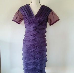 Spiegel's Purple Layered Ruffle Dress